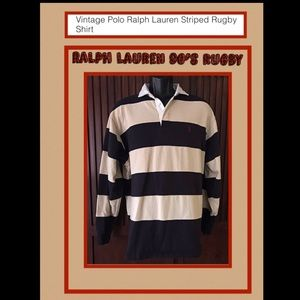 Polo by Ralph Lauren vintage 90s rugby shirt.EUC